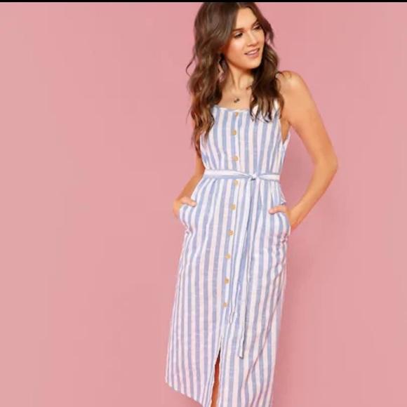 7c71cc8b9cddd SHEIN Dresses   Striped Dress   Poshmark